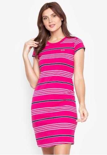 Le Tigre red Striped Dress E61F8AAF2F565CGS_1