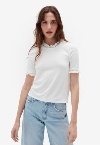 OVS white Short Sleeve T-Shirt 8D033AAB5D2F5EGS_1