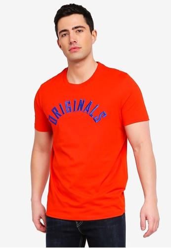Jack & Jones red Jormelvin Printed Tee 5DAEDAA35BF5CEGS_1