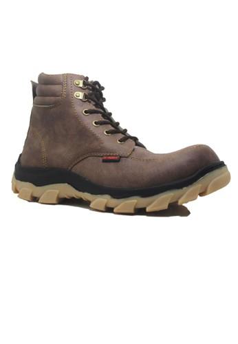Cut Engineer brown Cut Engineer Safety Boots Hikers Slip Resistant Brown CU226SH90KUJID_1