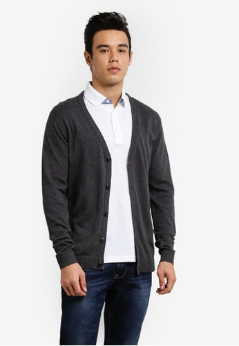 Selected Homme grey Knitted Cardigan SE364AA0RB4UMY_1