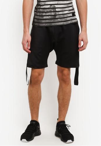 Flesh IMP 黑色 Side Taping Shorts FL064AA0RNAHMY_1