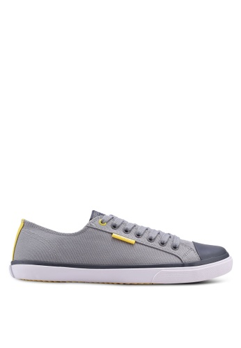 Superdry grey and yellow Low Pro Sneaker 327D0SHE208C55GS_1