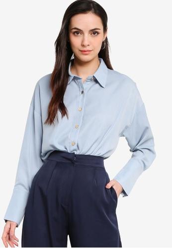 ZALORA WORK blue Button Down Shirt BEDEDAAC2F5B70GS_1