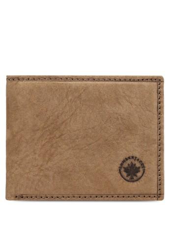 Lumberjacksesprit hk store 暗紋對折皮夾, 飾品配件, 飾品配件