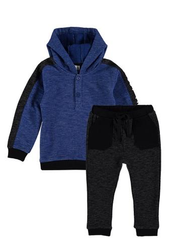 LC Waikiki blue Hoodie and Trousers Set 2EF3EKA8AA28ACGS_1