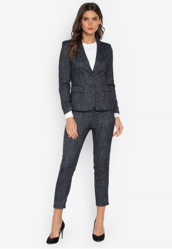 Well Suited black Textured Blazer with Pants 7FC9FAA51D48D3GS_1