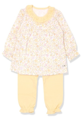 Organic mom yellow Organic Girls Yellow Homewear Pajamas 1DC48KAF87338AGS_1