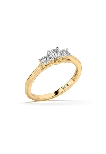 HEBE gold Sustainable Diamond Solitaire Ring 72619AC2E51E33GS_1