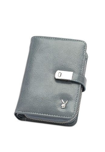PLAYBOY BUNNY blue Women's Bi Fold Purse / Bi Fold Wallet DF590AC57B9E5AGS_1