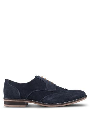 Acuto blue Leather Derby Shoes AEBC1SH8812654GS_1