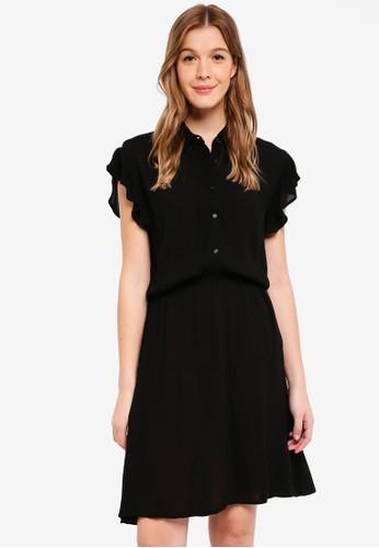 Cotton On black Woven Bertie Button Up Tea Dress 5F609AA5A2B25CGS_1