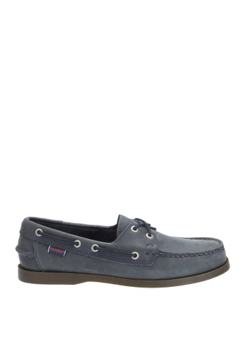 Sebago navy Mens Docksides Boat Shoes SE328SH81GRYPH_1