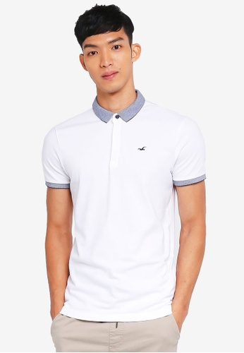 Hollister white Core Icon Solid Polo Shirt 93AA7AA4D7F0E7GS_1
