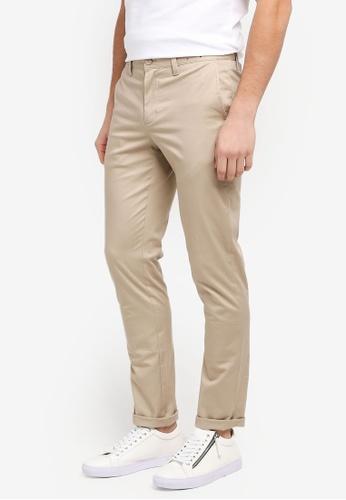 G2000 beige Flat Front Informal Slim Pants 13AE2AA1613801GS_1