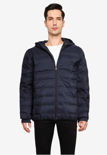 Only & Sons navy Technical Puffer Jacket 510A9AA844F910GS_1