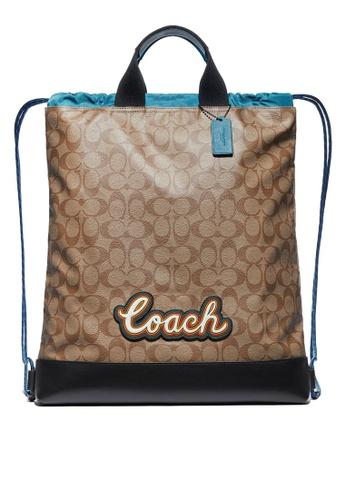 Coach multi Terrain Drawstring Backpack (cv) B81A6AC0475E93GS_1