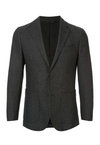 D'urban black Oversized Blazer Jacket E6852AA124CD8FGS_1