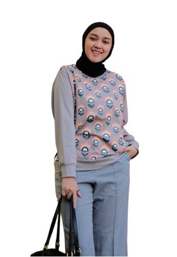 ABAME. grey Melo t-shirt 8782DAA9D2DCA4GS_1