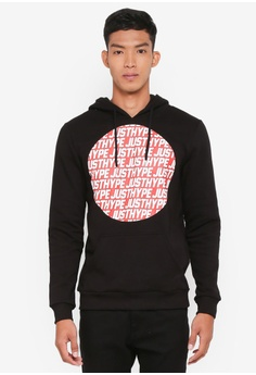 cc3d6644c284 Just Hype black JH Sporting Pullover Hoodie F0044AA53C3EFCGS 1