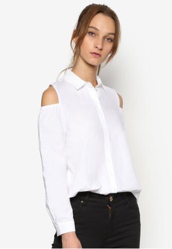 挖肩長袖襯esprit 香港衫, 服飾, 服飾