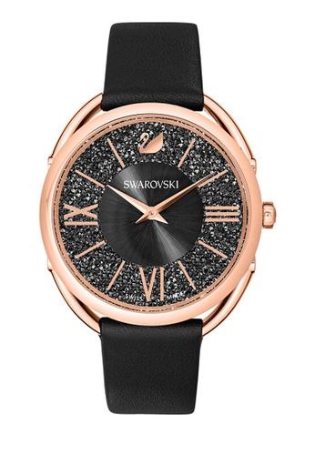 Swarovski black Crystalline Glam Leather Strap Watch 97728AC67305B3GS_1