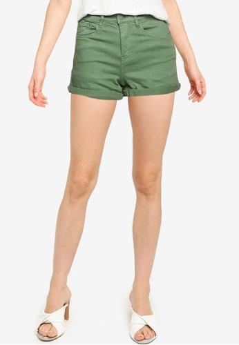 Springfield green Coloured Denim Shorts 80E90AA29138E4GS_1