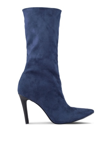 ZALORA 海軍藍色 Long Boots 9BF86ZZ9959B75GS_1
