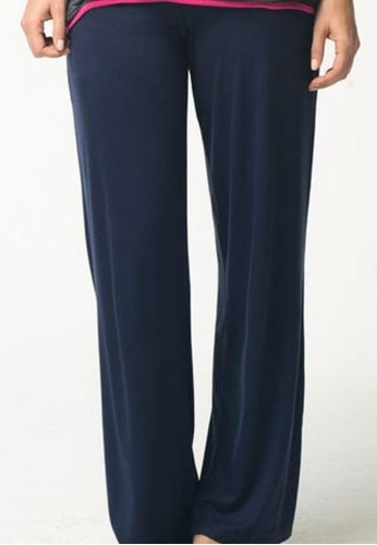 Bove by Spring Maternity blue Knitted Myra Flare Pants Navy 5697EAADFA0261GS_1