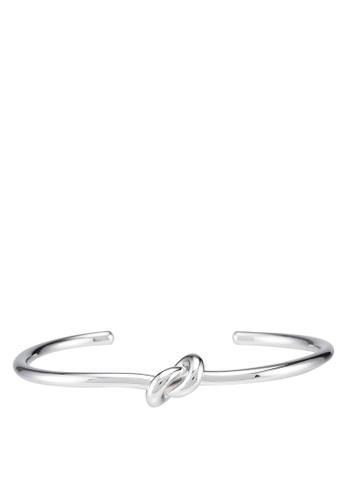 Klarf silver Jolie Knot Cuff Bangle 459AFAC0EBC6A9GS_1