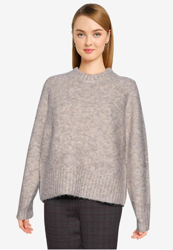French Connection brown Kate Knits Crew Neck Jumper 68645AACA6BD01GS_1