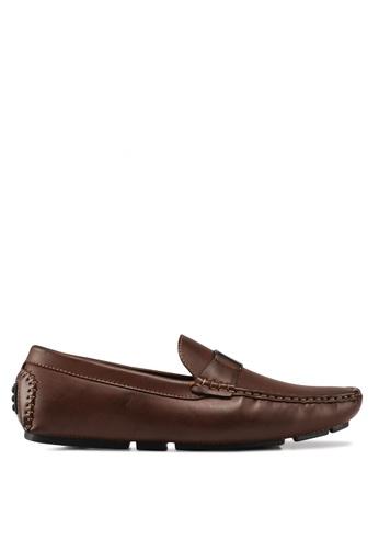 Carlton London brown Horsebit Loafers 8B3E9SHEAD2216GS_1