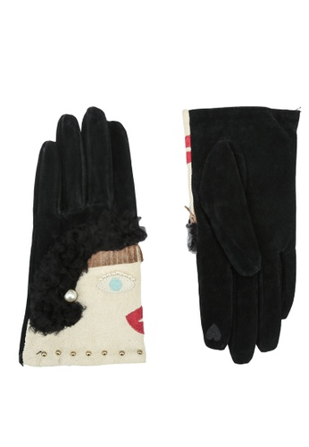 niko and ... black and multi Winter Gloves 12071ACCDDB7EFGS_1