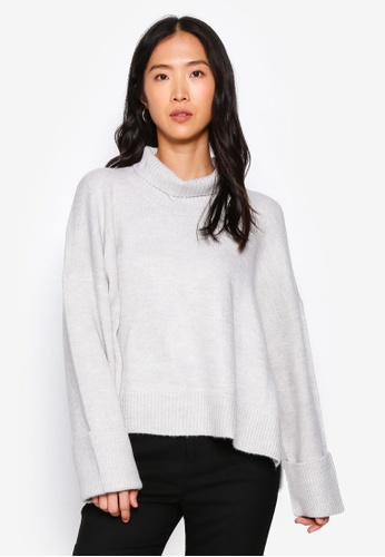 Heather grey Knit Sweater E82F9AA36B32D5GS_1