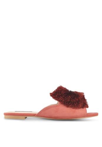 ZALORA pink Pom Pom Mule Slides 8C780SHFE7428DGS_1