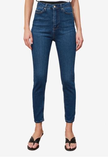 Trendyol navy High Waist Skinny Jeans 10456AA0B78EB7GS_1