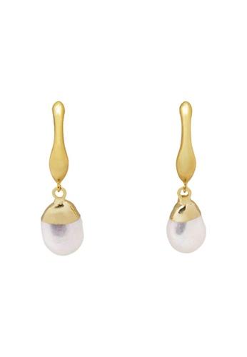 SKEDA gold Dayla Baroque Pearl Drop Earrings DB6F1AC0AD4D29GS_1
