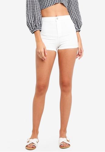 TOPSHOP white White Denim Joni Shorts D6234AA8E115BFGS_1