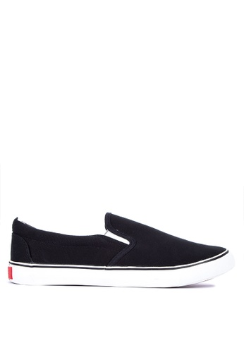 H2Ocean black Plain Sneakers Slip on Snekaers 91918SH5AEEAFDGS_1