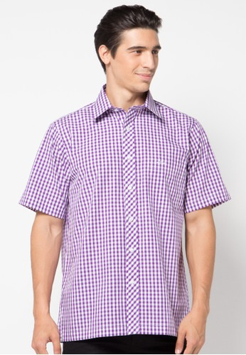 Pierre Cardin Apparel pink Shirt Short Sleeve Check PI754AA68QTZID_1