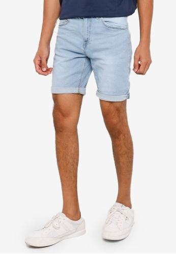 Springfield blue Slim Fit Denim Shorts E3FD3AAA703F54GS_1
