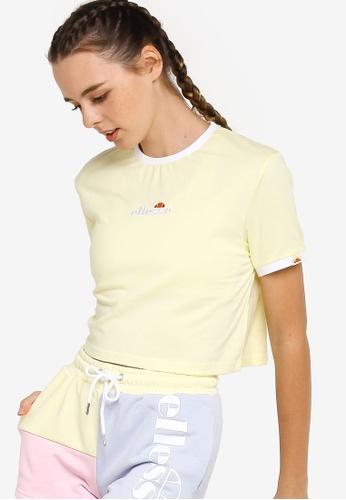 Ellesse yellow Derla Crop T-Shirt 60C08AAA19672AGS_1