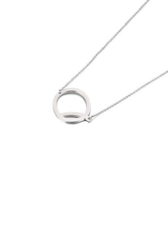 Glamorousky 銀色 簡約時尚英文字母Q 316L鋼吊墜配項鏈 1FC39AC643022DGS_1