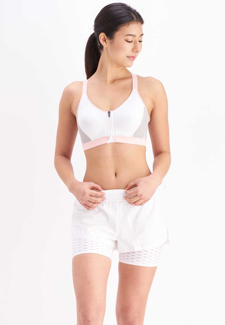 eba63702e517a Light Bright Her Sports Zip Front Stone Own Impact Candy Bra Racerback High  x Cotton Words ...