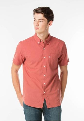 Levi's red Short Sleeve Classic One Pocket Shirt LE843AA17JJESG_1
