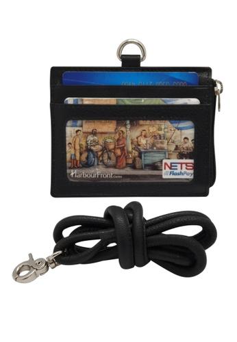 Oxhide black Oxhide Leather Lanyard / ID card holder - JG4164LS -BLK 0AD72ACC44EFCEGS_1