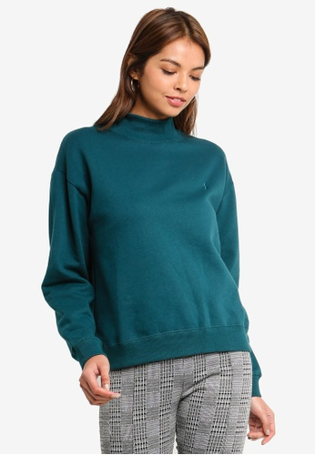 Cotton On green Perri Mock Neck Pullover 829FBAA86C32F9GS_1
