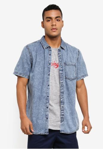 Cotton On blue 91 Short Sleeve Shirt 3CAFCAA71DBB32GS_1