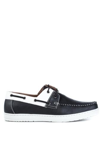 H2Ocean black Nemwell Boat Shoes H2527SH96VALPH_1