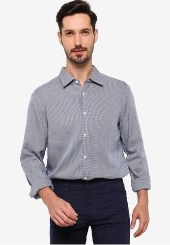 BOSS blue T-Carl Shirt - BOSS Men 38D88AA6622934GS_1